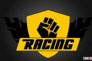 Racing Fist Shield Logo