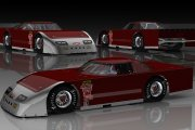 DMR Outlaw Late Model 3 Car Mental Ray Scene