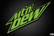 Mtn Dew Black and Green Logo