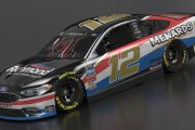 MENCS18 Ryan Blaney Fictional Southern 500 Throwback