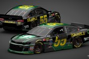 2019 MENCS CAMARO:  2002 Schneider Electric (BLACK) Bobby Hamilton #55 Throwback