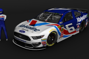 Retro 1996 Mark Martin #6 Valvoline Ford (MENCS 2019 mod)