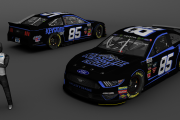 MENCS 2019 Fictional Keystone Light #85 Mustang