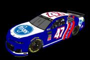 Ryan Preece #47 Fictional Throwback (Dick Trickle 1978 Silver Bullet)