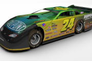 #24 Fictional Jeff Gordon Dirt Late Model