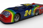 #24 Fictional Jeff Gordon Dirt Late Model (Rainbow Scheme)