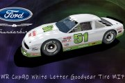 DMR Cup90 White Letter Goodyear tire MIPS