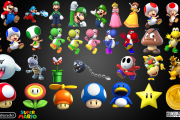 Super mario Bros main characters set