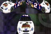 1998 Rusty Wallace Elvis Car ran @ LVMS