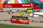 1980s Winston Cup Hauler, LED Truck, and Series Flagger