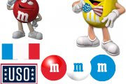 WEDS Patriotic M and M's logo sheet