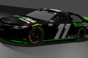 *FICTIONAL* 2021 Denny Hamlin #11 Sport Clips Darlington Throwback (2006 Fedex Ground)