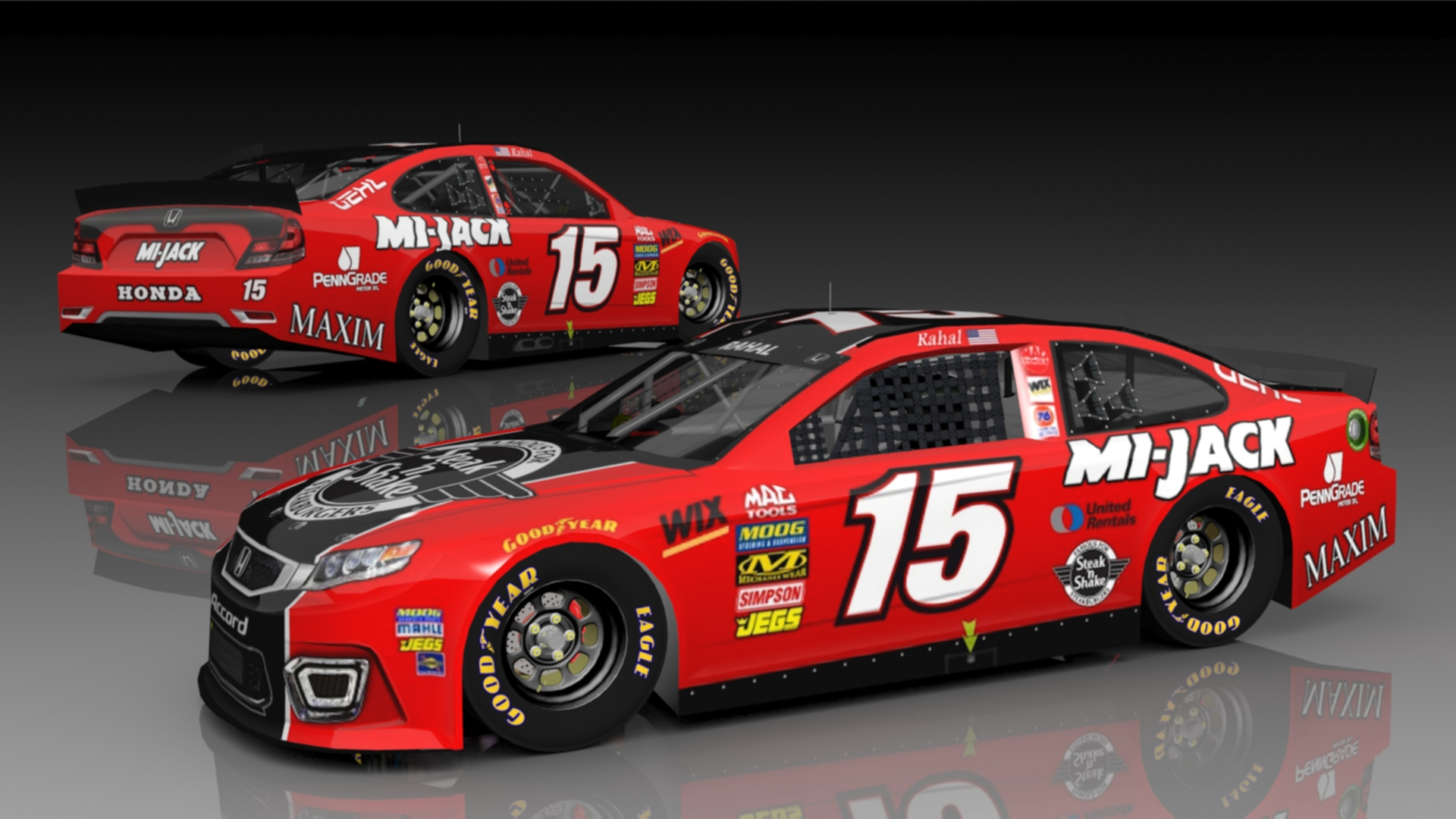 Bobby Rahal Toyota >> Fictional Graham Rahal #15 Steak n Shake Honda | Stunod Racing