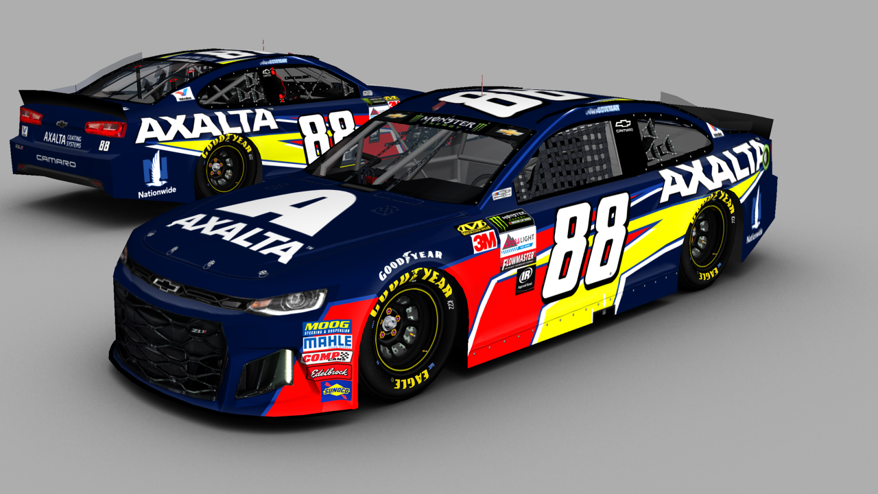 2018 Alex Bowman Axalta On Toyota Model Template Stunod