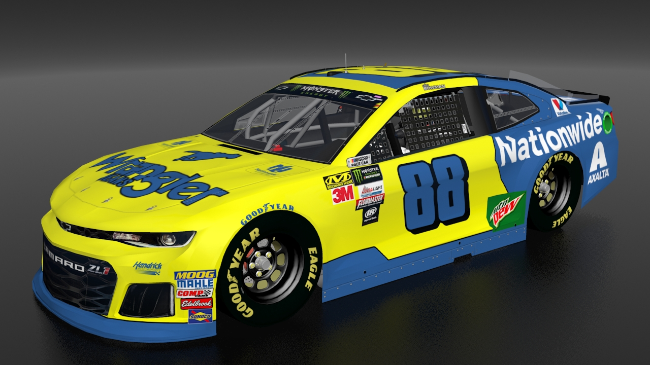 [Fictional] 2018 Alex Bowman 88 Wrangler/Nationwide Throwback | Stunod Racing