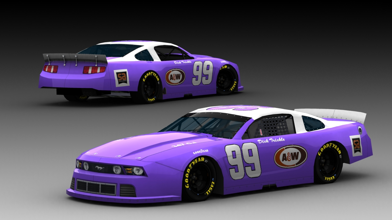 Richard Petty Mustang >> Fictional #99 Dick Trickle MCLM Ford Mustang | Stunod Racing