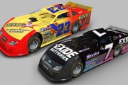 Retro Dirt Late Models - K Wallace and G Bodine BR DLM mod