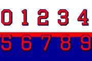 Octin Sports Number Set