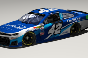#42 Kyle Larson 2018 Credit One Bank Base