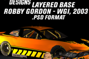 Robby Gordon - WGI 2003 Layered Base + .TGA Scheme for MENCS18 Camaro