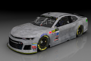 MENCS 2018 Camaro Test Car Base Scheme