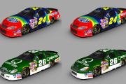 (Original Cup Mod) #24 Dupont and #26 Quaker State 4 Pack