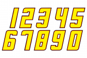 2019 Levine Family Racing Number Set