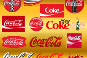 coke logo assortment