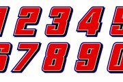 Reaume Brothers Racing Numberset