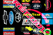 2019 Basic Contingency Decal Set VERY HIGH QUALITY