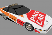 White/Orange/Red Aerowar Corvette Pace Car