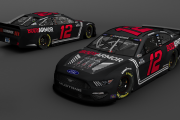 "MENCS19 Ryan Blaney 2020 Bodyarmor ""Blackout Berry"" Concept"
