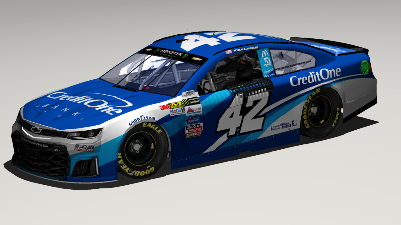 42 Kyle Larson 2018 Credit One Bank Base Stunod Racing
