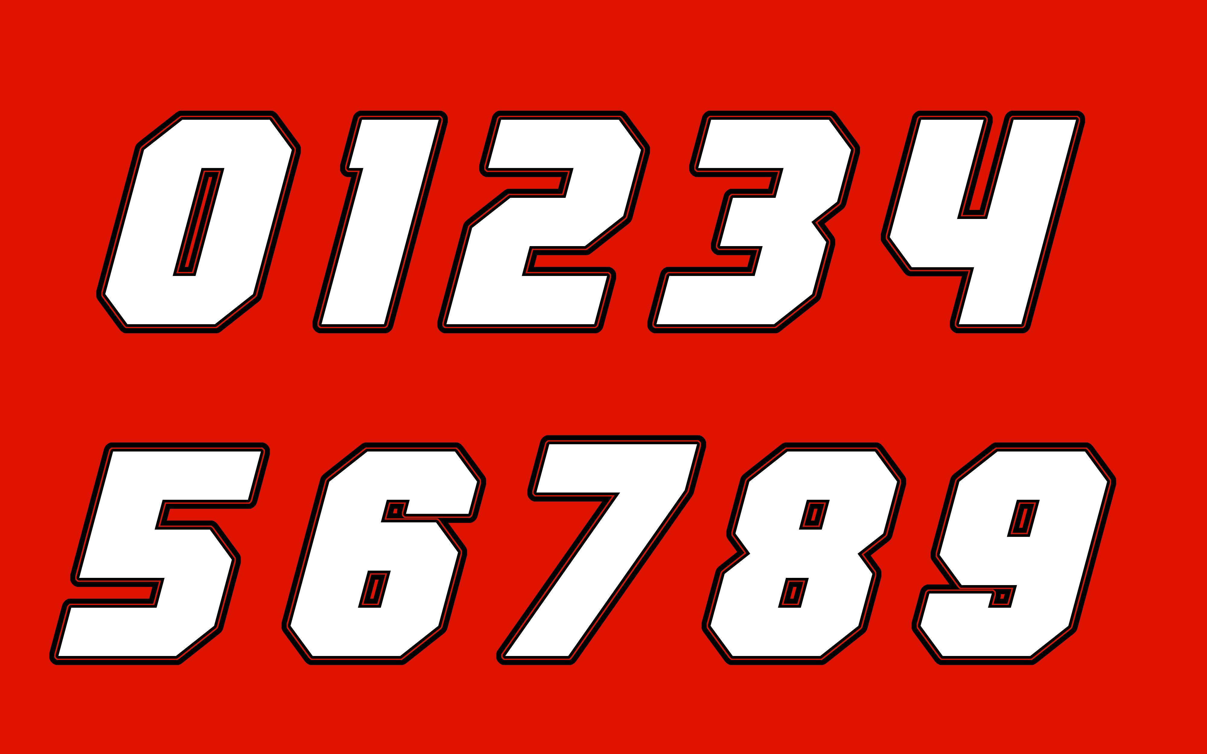 RaptorRacer93's Numberset A | Stunod Racing